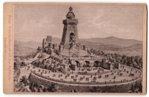 Fotografie F. Kammerer, Rossla, Ansicht Kaiser Wilhelm-Denkmal auf dem Kyffhäuser