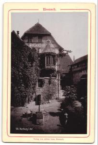 Fotografie Verlag von Arthur Laue, Eisenach, Ansicht Eisenach, Hof der Wartburg