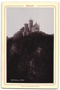 Fotografie Verlag von Arthur Laue, Eisenach, Ansicht Eisenach, Wartburg von Süden