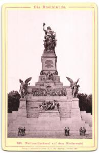Fotografie A. Ortholph, Heidelberg, Ansicht Rüdesheim, Nationaldenkmal auf dem Niederwald