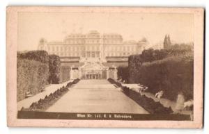 Fotografie J. Stauda, Ansicht Wien, K. k. Belverdere