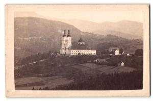 Fotografie v. Pleschner, Graz, Ansicht Almenland, Basilika Maria Trost