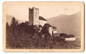 Fotografie S. Pötzelberger, Meran, Ansicht Tscherms, Schloss Lebenberg
