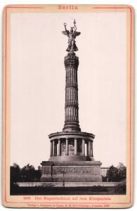 Fotografie Verlag v. Römmler & Jonas, Dresden, Ansicht Berlin, Siegesdenkmal auf dem Königsplatz, Goldelse