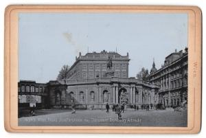 Fotografie Verlag Stengel & Co., Dresden, Ansicht Wien, Franz Josefbrunnen mit Monument Erzherzog Albrecht
