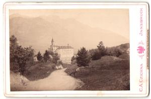 Fotografie C. A. Czichna, Innsbruck, Ansicht Schloss Ambras