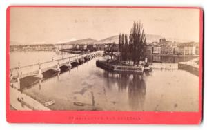 Fotografie F. Charnaux, Genève, Ansicht Genève / Genf, Partie mit Brücke