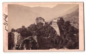 Fotografie Peter Moosbrugger, Meran, Ansicht Schloss Tirol, Gesamtansicht