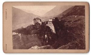 Fotografie F. Largajoli, Meran, Ansicht Meran, Schloss Tirol