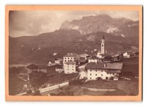 Fotografie Bernhard Johannes, Partenkirchen, Ansicht Cortina d`Ampezzo, Ansicht mit Tofana-Gebirge