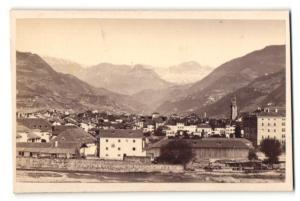 Fotografie Jos. Gugler, Ansicht Bozen, Blick von der Talferbrücke