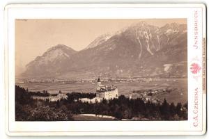 Fotografie C. A. Czichna, Innsbruck, Ansicht Schloss Ambras, Panorama