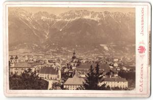 Fotografie C. A. Czichna, Innsbruck, Ansicht Innsbruck, Totale gegen Norden