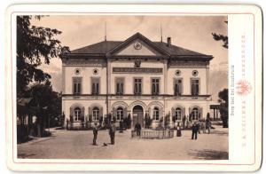 Fotografie C. A. Czichna, Innsbruck, Ansicht Innsbruck, Berg Isel, Tiroler Jäger Regiments-Schiess-Stätte