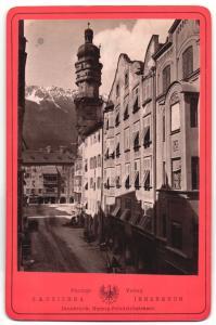 Fotografie C. A. Czichna, Innsbruck, Ansicht Innsbruck, Herzog-Friedrichstrasse