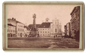 Fotografie Verlag von J. Gregora, St. Pölten, Ansicht St. Pölten, Franziskaner-Kloster sammt Kirche
