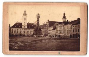 Fotografie Verlag von J. Gregora, St. Pölten, Ansicht St. Pölten, Rathausplatz