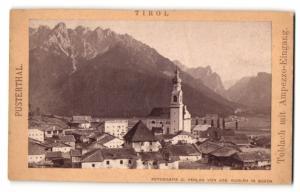 Fotografie Jos. Gugler, Bozen, Ansicht Toblach, Totale mit Ampezzo-Eingang