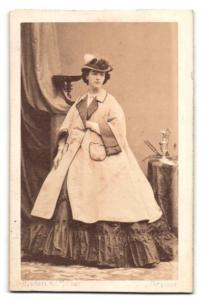 Fotografie Disderi & Cie., Portrait Delphine Gay, Schriftstellerin, Dichterin