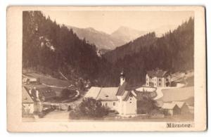 Fotografie F. Ramesmeier, Neuberg, Ansicht Mürzsteg, Blick auf Kirche