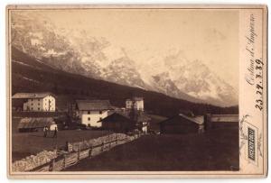 Fotografie Vincenzo Colli, Cortina d`Ampezzo, Ansicht Cortina d`Ampezzo, Ortspartie