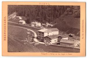 Fotografie Jos. Gugler, Bozen, Ansicht Brennerbad, Vogelschau