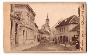 Fotografie R. Steidl, Brick a. d. Leitha, Ansicht Bruck a. d. Leitha, Kirchengasse