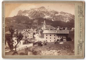 Fotografie Ed. Scherner, Sillian, Ansicht Cortina d`Ampezzo, Blick zum Ort