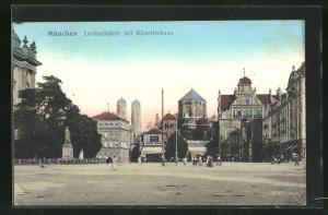 AK München, Lenbachplatz mit Künstlerhaus und Synagoge