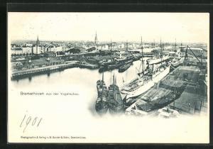 AK Bremerhaven, Panorama aus der Vogelschau
