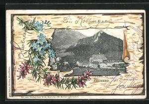 Künstler-AK E. Döcker: Neuberg, Passepartout