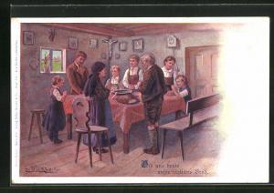 Künstler-AK E. Döcker: Unser Gebet, Gib uns heute unser tägliches Brot