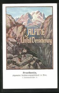 AK Wien, Providentia, allgemeine Versicherungsgesellschaft, Dominikanerabtei 21, Alpine Unfall Versicherung