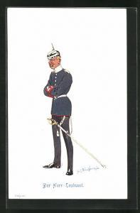 Künstler-AK Fritz Schönpflug: Der Herr Leutnant