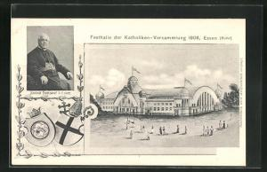 AK Essen / Ruhr, Festhalle der Katholiken-Versammlung 1906