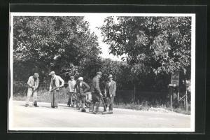 AK Arbeiter beim Strassenbau