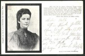 AK Portrait Kaiserin Elisabeth (Sissi) von Österreich