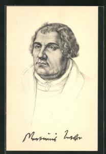 AK Portrait von Dr. Martin Luther
