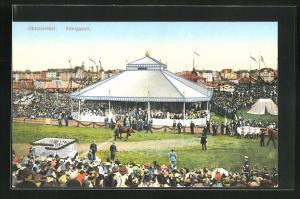 AK Oktoberfest, Königszelt mit viel Publikum, Pferde werden gezeigt