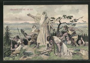 AK Slaven auf einem Hügel, Prichod chechu na Rip