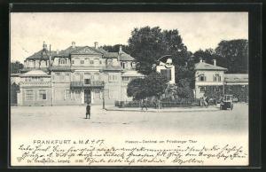 AK Frankfurt-Nordend, Hessen-Denkmal am Friedberger Thor
