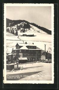 AK St. Johann a. Tauern, Gasthof zur Post im Winter