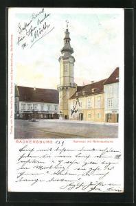 AK Radkersburg, Rathaus mit Rathausturm