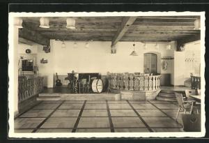 AK Lindau / Bodensee, Hotel Seegarten, Zum lieben Augustin, Innenansicht mit Instrumenten auf Bühne