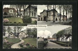 AK Brekling b. Schleswig, Gast- u. Geschäftshaus Gerhard Beck, Häuser mit Grünanlagen