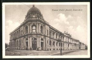 AK Essen / Ruhr, Essener Credit-Anstalt, Eckfassade
