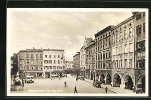AK Rosenheim, Max-Josef-Platz mit Denkmal
