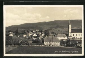 AK Breitenberg / Bayr. Wald, Teilansicht mit Kirche