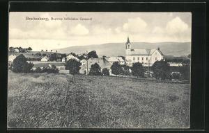 AK Breitenberg, Teilansicht mit Kirche