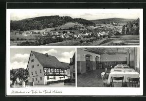AK Hüttenbach / Fränk. Schweiz, Gasthof Regler, Innenansicht, Gesamtansicht